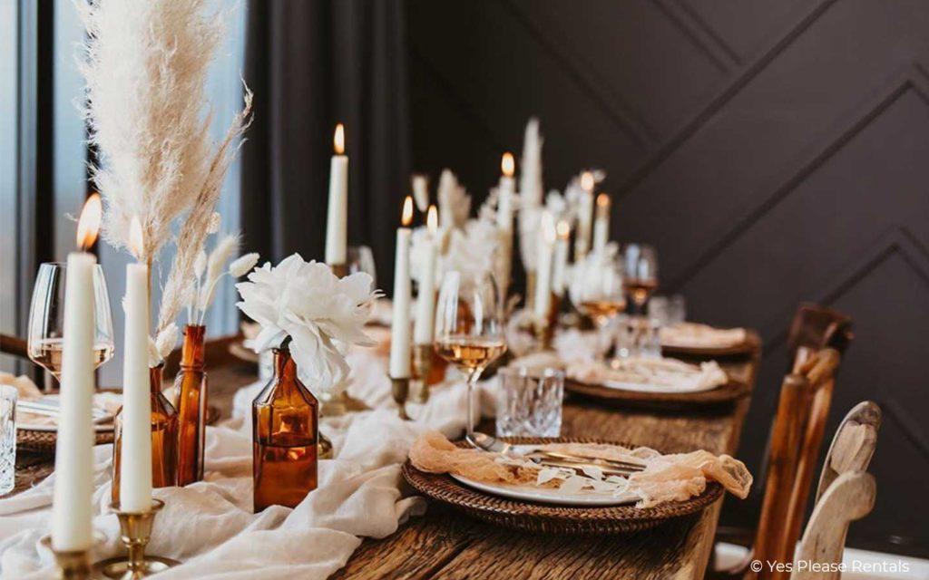 Nachhaltige Hochzeitsdekoration